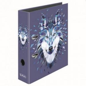Biblioraft A4 8 cm Herlitz Motiv Wild Animals Wolf 50027309