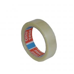 Banda adeziva transparenta 25mm x 66m din cauciuc sintetic Tesa TS428028