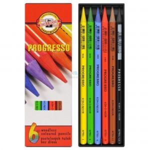 Set creioane fara lemn Progresso 6 culori/set K8755-6