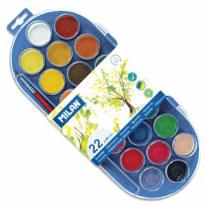 Acuarele 22 culori Milan 80022