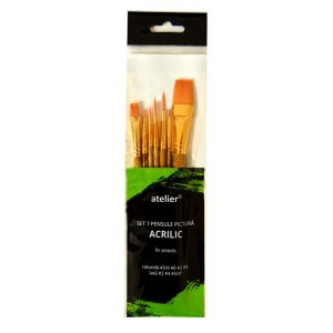 Set Atelier 7 pensule pictura acrilice AT20041