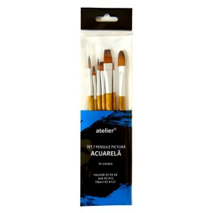 Set Atelier 7 pensule pictura acuarela AT20053