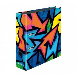 Biblioraft A4 8 cm Herlitz Motiv Neon Art 50027385