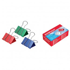 Binder clips color 25 mm ErichKrause 25090