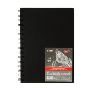 Bloc A5 hartie neagra 140G 30 file Daco BD514