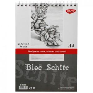 Bloc A6 hartie neagra 140gr, 30 file Daco BD614