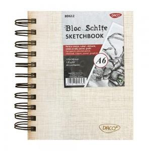Bloc A6 schite 120gr, 80 file Daco BD612