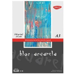 Bloc desen A3 Acuarela 190g, 24/file Daco BD319