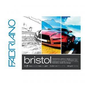 Bloc grafica Bristol 21X29.7 cm, 250g/mp 20 coli Fabriano RFB4.190.021.29