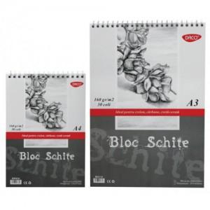 Bloc A4 schite, 160gr, 30file Daco BD416