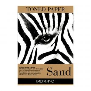 Bloc desen Toned Paper sand 21X29.7 cm 120g/mp 50 coli Fabriano RFB4.191.004.96