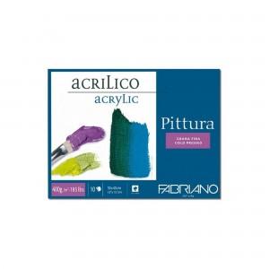 Bloc acril Pittura 30 X 40cm 400g/mp 10 coli Fabriano RFB4.400.030.40