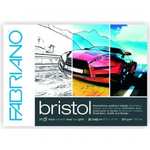 Bloc grafica Bristol 29.71X42 cm 250g/mp 20 coli Fabriano RFB4.190.029.42