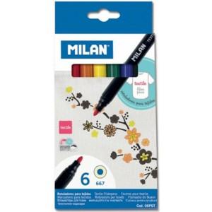 Carioca Milan 6 culori pentru textile 11805