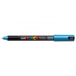 Marker Uni PC-1MR Posca 0.7 mm varf fin metalic albastru metalizat M484