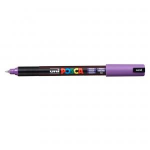 Marker Uni PC-1MR Posca 0.7 mm varf fin metalic violet M626