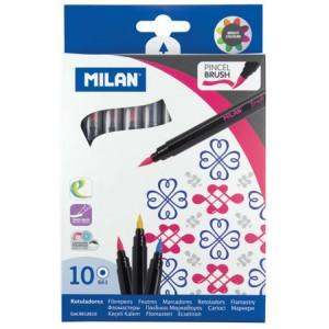 Carioca 10 culori tip pensula Milan 10034