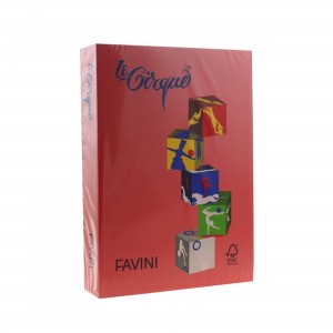 Carton A4 color 160 gr/mp Rosu 209 Favini A74C304