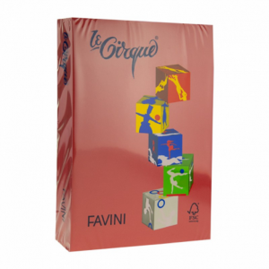 Carton A4 color 160 gr/mp Rosu rubin 210 Favini A743304