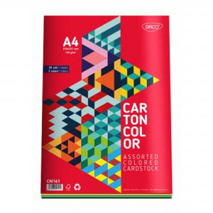 Carton color A4 160gr/mp, 30coli/top, 5 culori Daco CN161