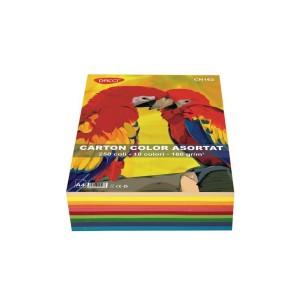 Carton color asortat A4 Daco 250 coli 10 culori 160G/mp CN162