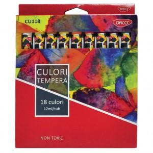 Tempera 18 culori Daco CU118