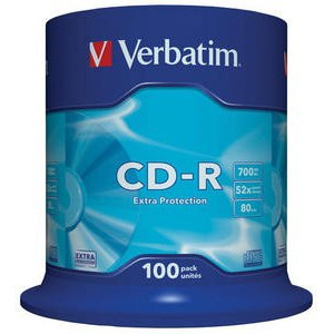 CD-R Verbatim 52X 100/BOX VER43411