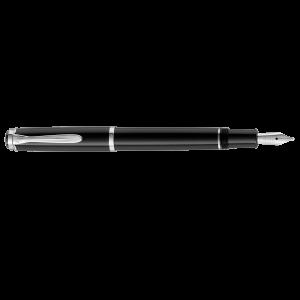 Stilou Pelikan P205 M cu patron, penita din otel inoxidabil corp negru 930859