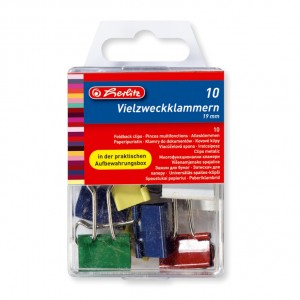 Binder clips color 19 mm Herlitz 8770257