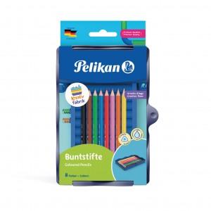 Creioane colorate solubile in apa, in tavita pentru set Kreativfabrik, set 8, Pelikan 700894