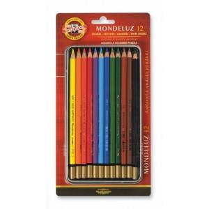 Set creioane Aquarell Mondeluz 12 culori/blister K3722-12BL