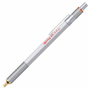 Creion mecanic Rotring 2.0 mm seria 800, metalic argintiu 1922347
