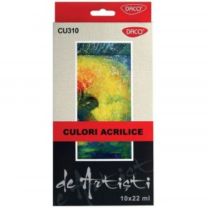Culori acril Artist 10 culori 22 ml Daco CU310