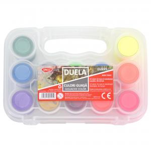 Culori guasa 6 culori neon + 6 culori metalizate Duela Daco CU221