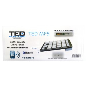 Tastatura Ted Electric bluetooth mini white mf5 40975
