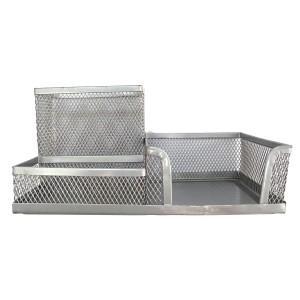 Suport de birou Ecada metalic cu 3 compartimente 95003AG