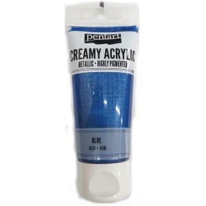 Acrylic color creamy metallic 60ML Blue P28010
