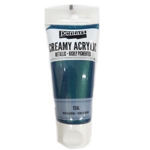 Acrylic color creamy metallic 60ML Teal P28025