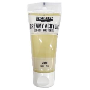 Acrylic color creamy semi-gloss 60ML Straw P27998