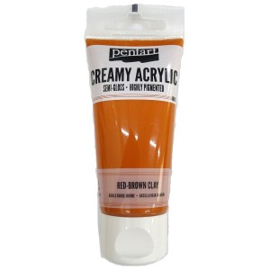 Acrylic color creamy semi-gloss 60ML Red-Brown Clay P27926