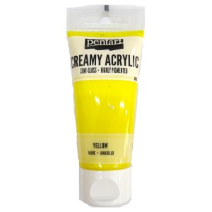 Acrylic color creamy semi-gloss 60ML Yellow P27947