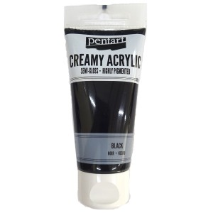 Acrylic color creamy semi-gloss 60ML Black P27941