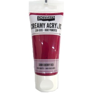 Acrylic color creamy semi-gloss 60ML Soor Cherry Red P27938