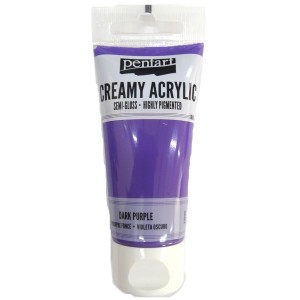 Acrylic color creamy semi-gloss 60ML Dark Purple P27940