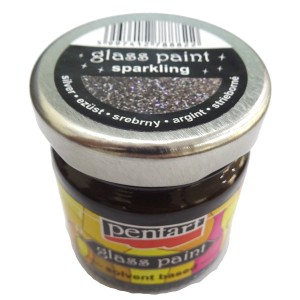 Glass point/solvent 30ML Sparkling Silver P10625