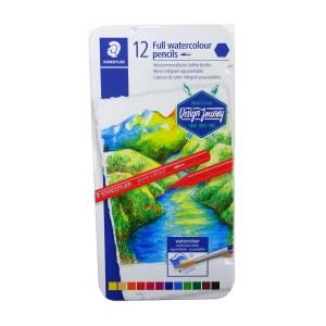 Creioane colorate Staedtler Aquarell 12buc/cutie metalica ST-14610G-M12