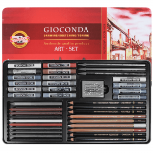 Set Large arta Gioconda Koh-i-Noor 39 piese cutie metalica K8891