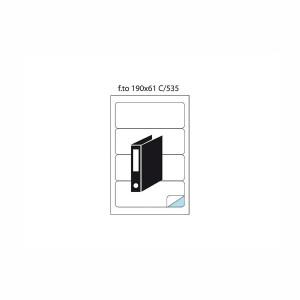 Etichete autoadezive speciale C/535 pentru biblioraft 5691