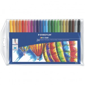Creioane color Staedtler Aquarell 24 bucati / set ST-14410-NC24