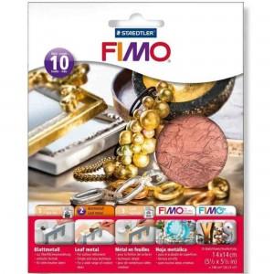 Fimo foite metal cupru 14X14,10 buc/set STH-8781-26
